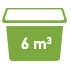 6 cubic meters Minibin Skip Bins Adelaide